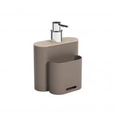 Dispenser 500ml Flat - Cinza