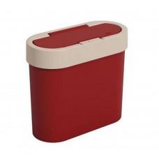 Lixeira 2,8 litros Automática Flat - Vermelho