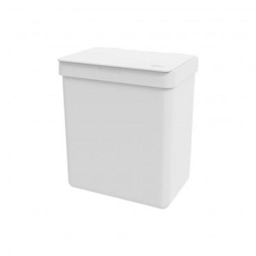 Lixeira 2,5l Warm Gray Single - Branco