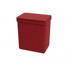 Lixeira 2,5l Warm Gray Single - Vermelho