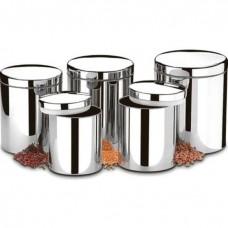 Conjunto de Potes 5 Peças em Aço Inox