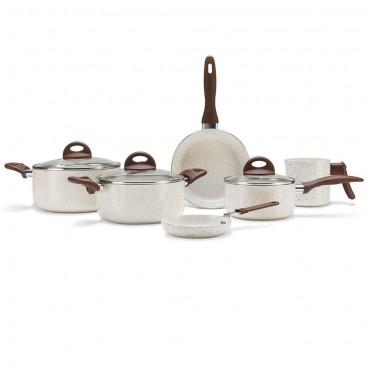 Jogo de Panelas 6 peças Ceramic Life VANILLA