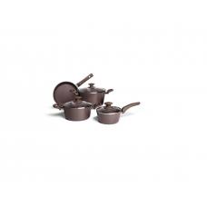 Conjunto 4 Panelas para Indução Ceramic Life OPTIMA Camurça