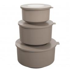 Conjunto 3 Potes Cinza - HOOP