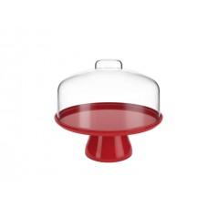 Boleira com Cúpula Cake 25cm Vermelho Bold
