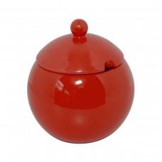 Açucareiro 300gr de Cerâmica Colonial Vermelho