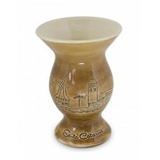 Cuia Santa Catarina Baixo Relevo 350ml Cerâmica