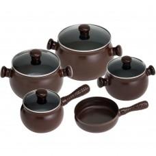 Conjunto de Panelas 5 peças Ceraflame - Chocolate