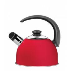 Chaleira Aço Inox com Apito 2,10 Litros Vermelha COFFEE AND TEA