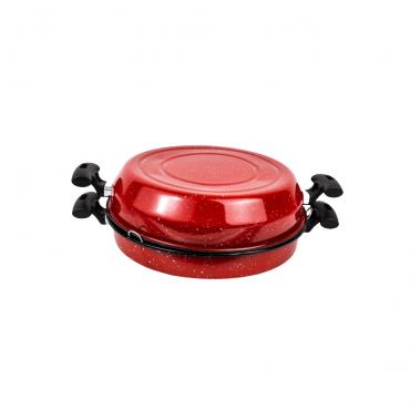 Multigrill Esmaltada 30cm - Vermelha