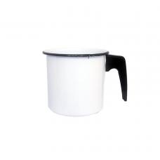 Canecão Fervedor 12cm Esmaltado Branco - BABY
