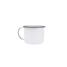 Caneca Esmaltada 1 litro Branca