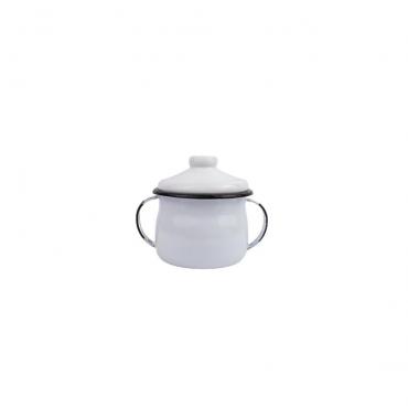 Açucareiro 8cm Esmaltado Branco