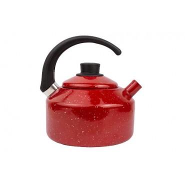 Chaleira 2,2 litros Esmaltada Vermelha