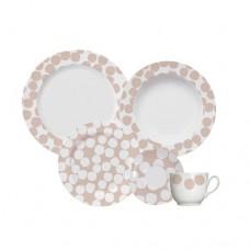Aparelho de Jantar e Chá 30 Peças Confetti Blush Germer