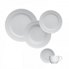 Aparelho de Jantar e Chá 30 peças Porcelana Chevron Germer