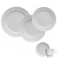 Aparelho de Jantar e Chá 30 peças Porcelana Tassel Germer