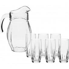 Conjunto de Jarra e 6 copos de Vidro