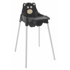 Cadeira de Refeição Infantil Alta TEDDY Preta