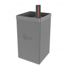 Vaso Autoirrigável em Polipropileno 800ml CINZA