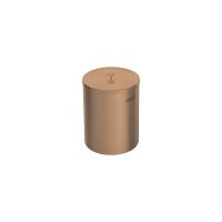 Lixeira Rosa Gold 5 Litros em Aço Inox Polido com Tampa