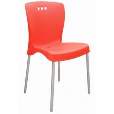 Cadeira com Encosto Fechado MONA SUMMA Vermelha