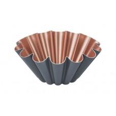 Forma para Brioche em Alumínio 22cm Cinza/Cobre BAKERY
