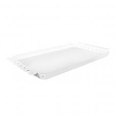 Bandeja Retangular Branca em Aço Inox Desenhos Vazados 47 x 25 cm